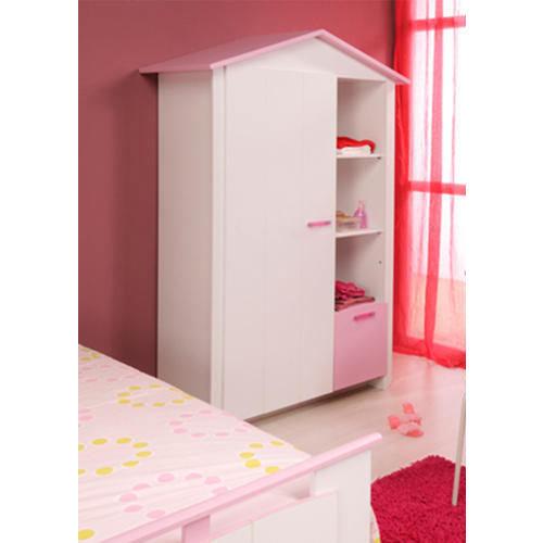 Basswood 3/4/5 Shelves Kids Wooden Wardrobe