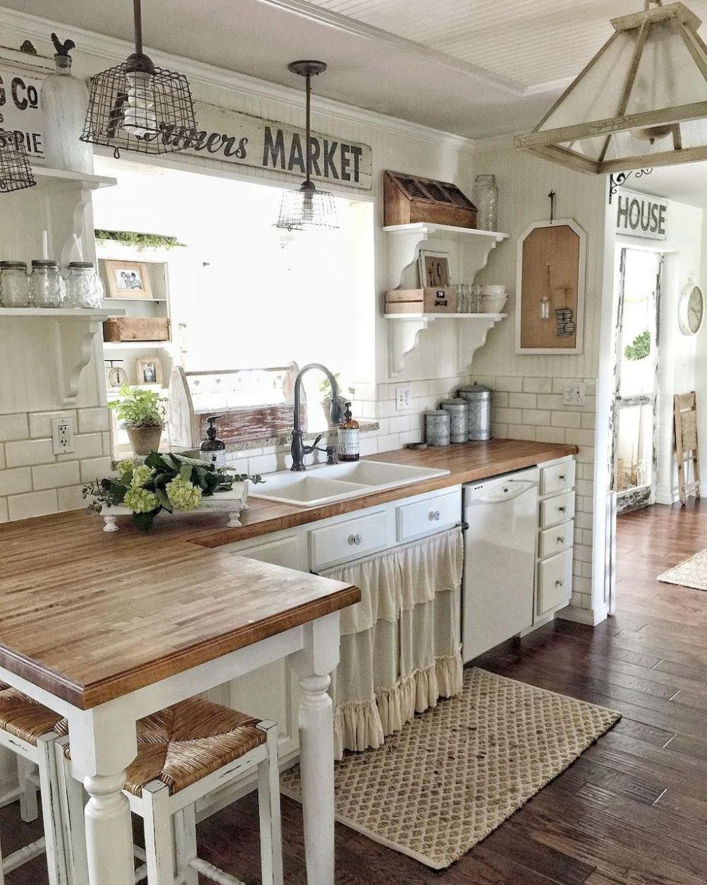 50 elegant farmhouse kitchen decor ideas (29)