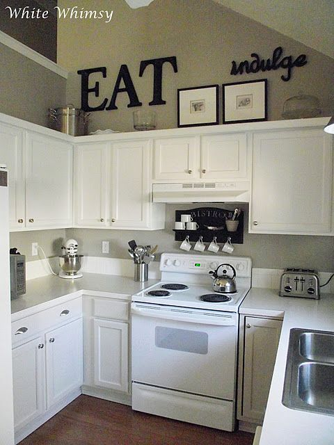 Really liking these small kitchens!