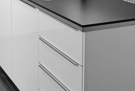 BLANKETT handgreep, aluminium IKEA Kitchen door handles & knobs