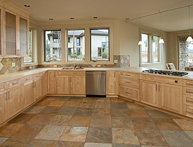 When it comes to kitchen floor tile, we are pretty lucky with the selection  that is available. Natural stone options include granite, marble and slate,