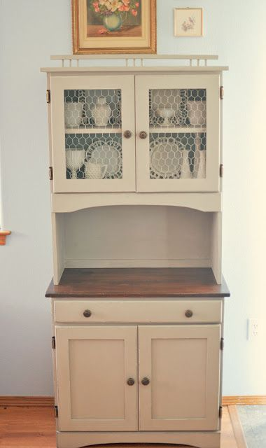 DIY Kitchen cabinet from a junk store buy!