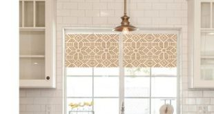 Straight Modern Valance in Metallic Gold and Ivory Print, Custom Size,  Fully Lined, Machine Washable, Kitchen Valance, Quick Ship