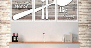 Eat Well Be Happy, Modern Kitchen Art, Shabby Chic Wall Decor, Shabby Chic Kitchen  Wall Decor, Modern Kitchen Decor, Modern Kitchen Print,