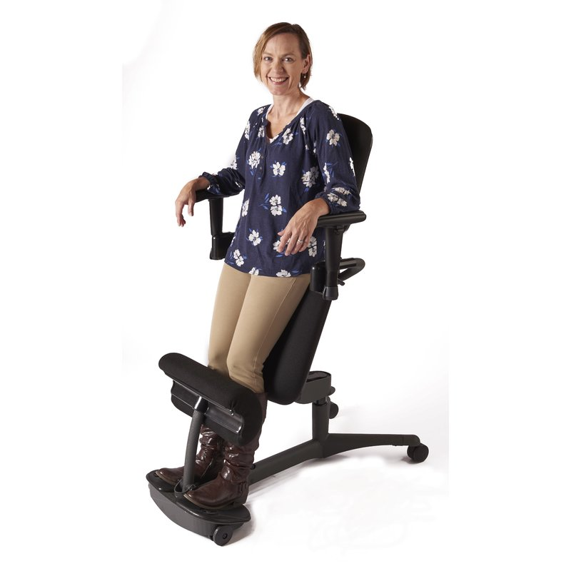 Stance Angle Mid-Back Kneeling Chair