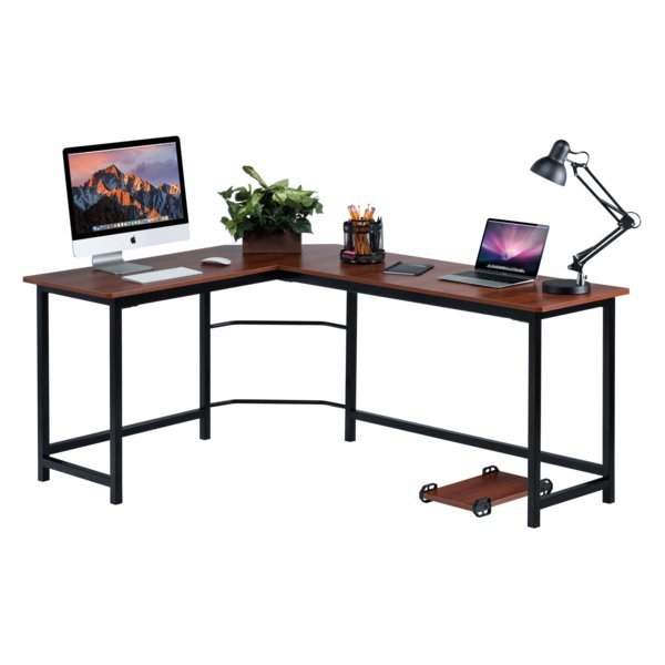 Red Barrel Studio Ohioville Stylish L-Shaped Computer Desk & Reviews |  Wayfair
