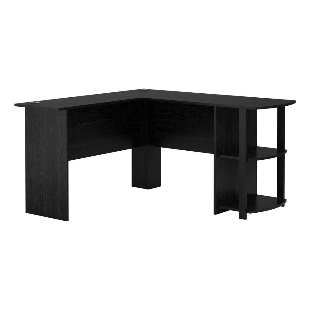 Ameriwood Home Quincy Black Oak L-Shaped Computer Desk