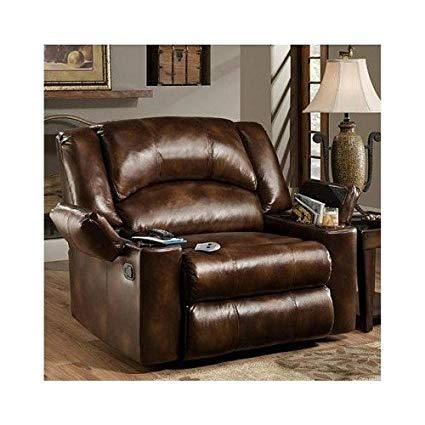 Simmons Brown Leather Over Sized Massage Reclining Chair These Recliner  Chairs Are Ideal for the Big