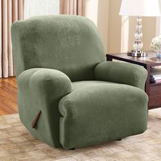 Sure Fit Stretch Pique Large Recliner Slipcover - 38704 Recliner Chair  Covers, Recliner Slipcover,
