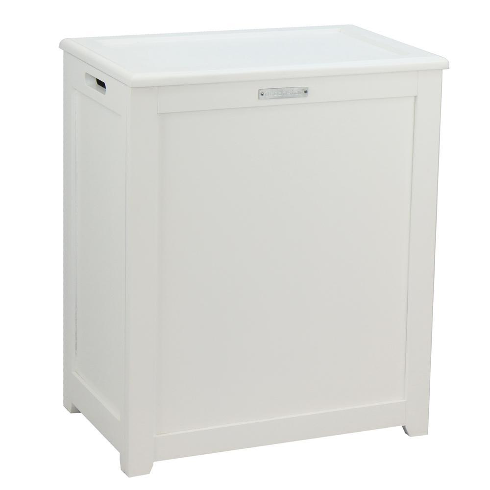 Oceanstar Storage Laundry Hamper in White