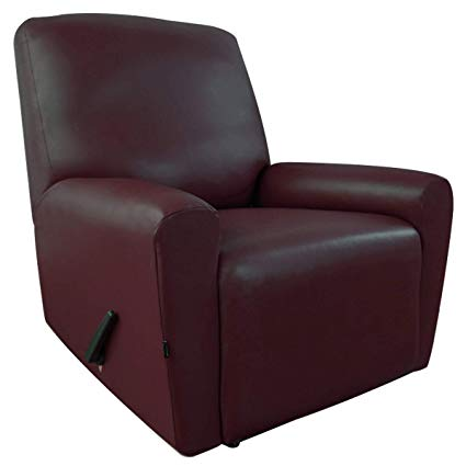 Easy-Going PU Leather Recliner slipcovers, Waterproof Stretch Sofa Covers,  4 Pieces Stretch