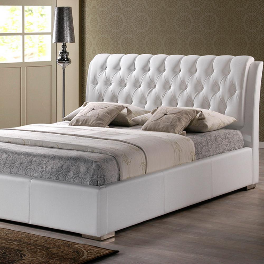This review is from:Bianca Transitional White Faux Leather Upholstered  Queen Size Bed