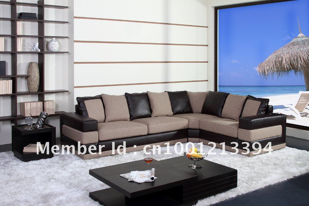 Modern furniture / living room fabric/ bond leather sofa/ sectional / corner  sofa