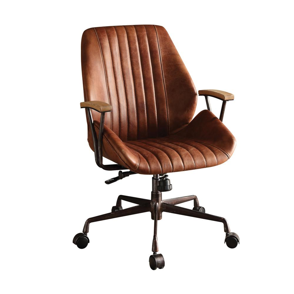 ACME Furniture Hamilton Cocoa Leather Top Grain Leather Office Chair