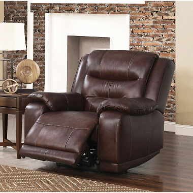 Chandler Top-Grain Leather Power Recliner with USB Port