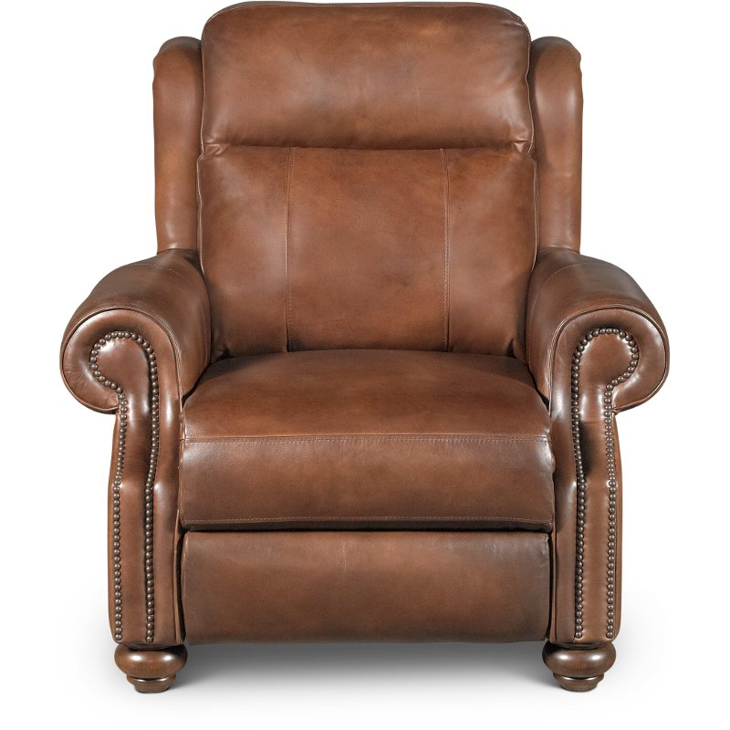 Coffee Bean Brown Leather Power Recliner - Hancock | RC Willey Furniture  Store