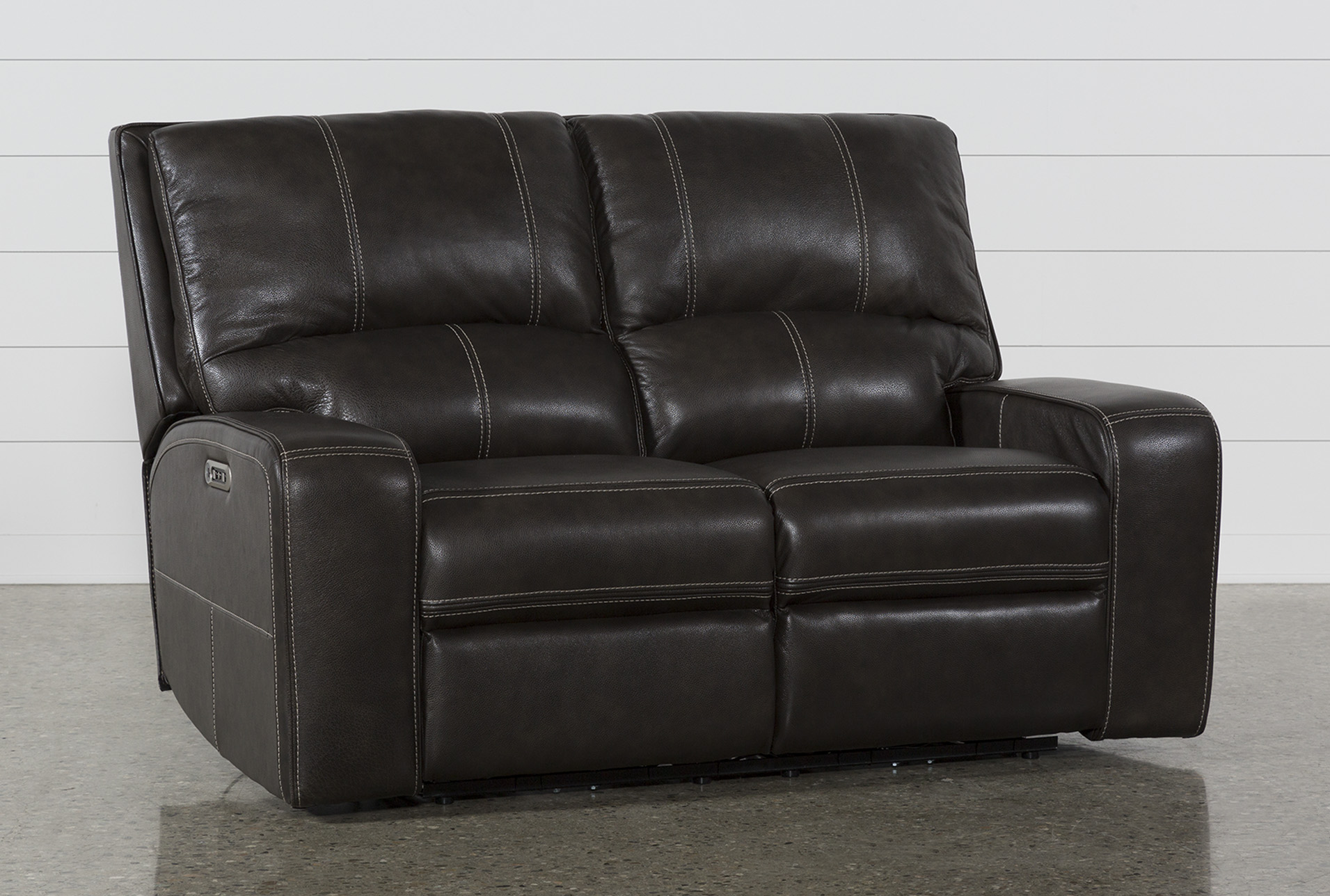 Clyde Grey Leather Power Reclining Loveseat W/Power Headrest & Usb  (Qty: 1) has been successfully added to your Cart.