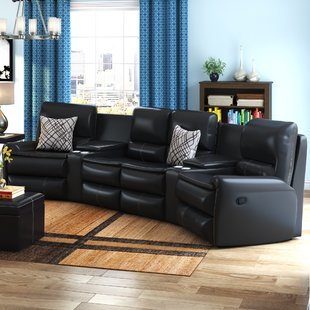 Yonkers Leather Reclining Sectional