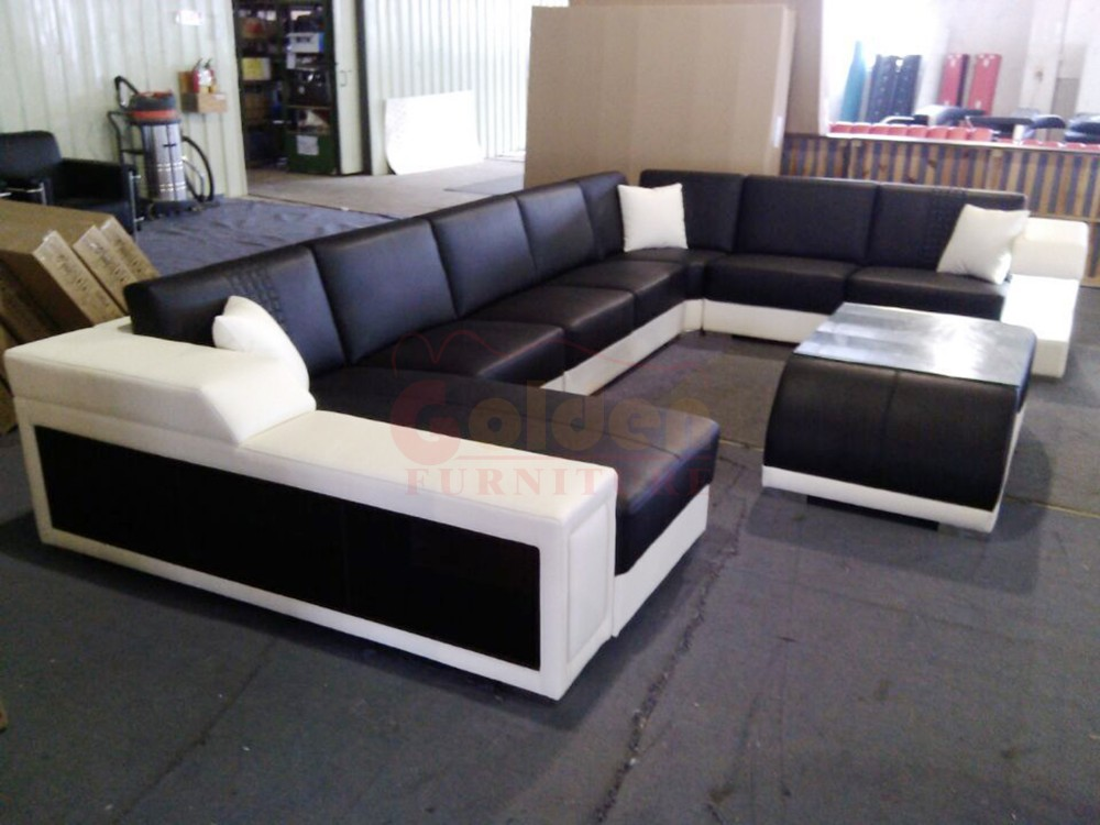 new L shaped leather sofa set designs furniture price A823#