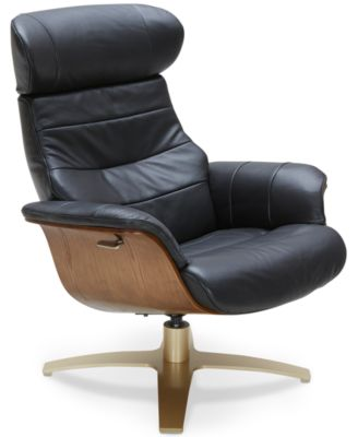 Furniture Annaldo Leather Swivel Chair; Furniture Annaldo Leather Swivel  Chair