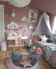 33 Attractive Girl Bedroom Ideas With Princess Themed Decorations  https://www.possibledecor