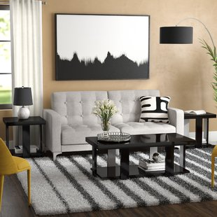 Dicken 3 Piece Coffee Table Set