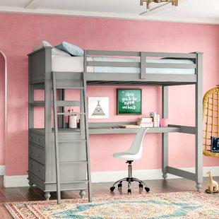 Javin Loft Bed With Desk
