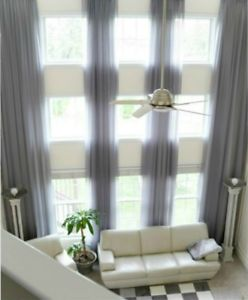 Image is loading 2-extra-long-curtains-for-high-ceiling-sheer-