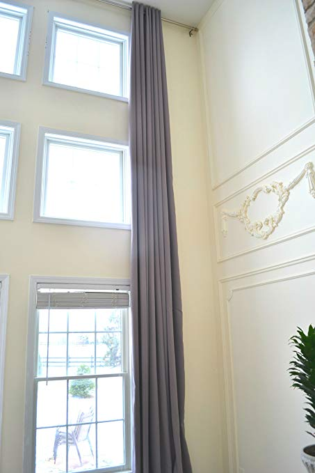 Ikiriska Blackout Extra Long Curtains for 2 Story Living Rooms, Wide  Insulated Drapes. 14