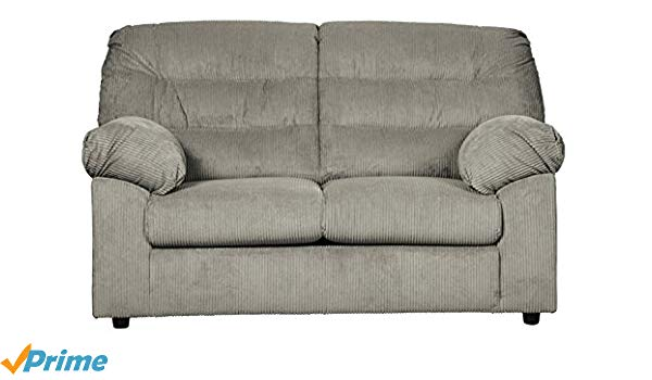 Traveller Location: Ashley Furniture Signature Design - Gosnell Contemporary  Upholstered Loveseat - Gray: Kitchen & Dining