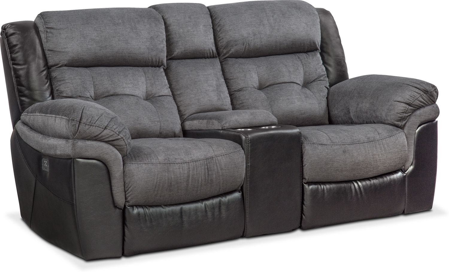 Tacoma Dual Power Reclining Loveseat with Console