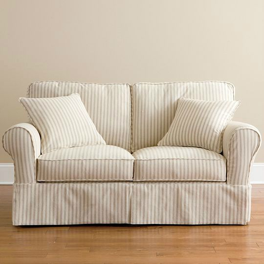 Slipcovers for Sofas and Loveseats | Cooking | Pinterest | Loveseat  slipcovers, Couch and loveseat and Striped sofa