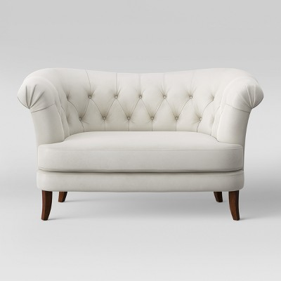 Juno Tufted Rollback Velvet Loveseat - Opalhouse™