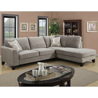 Micro-Fiber Sectional Couch