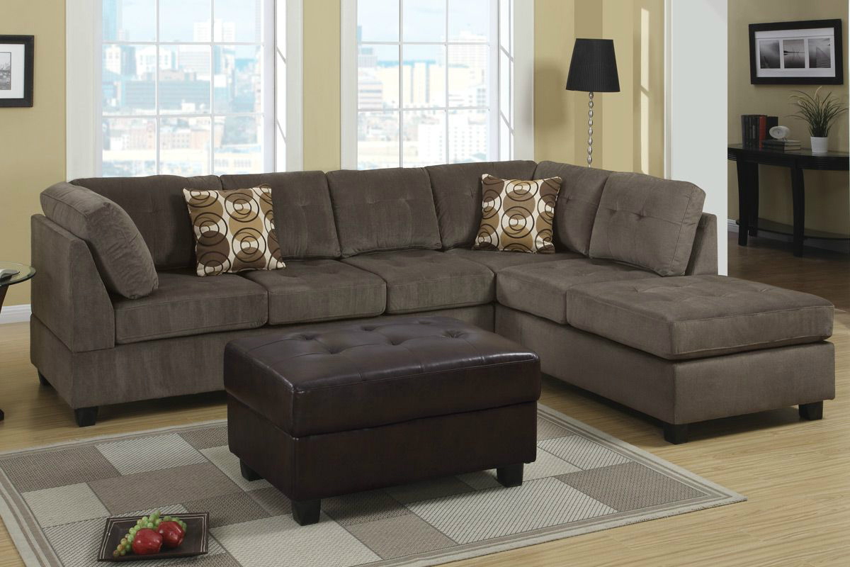 Radford Ash Reversible Microfiber Sectional Sofa - Steal-A-Sofa Furniture  Outlet Los Angeles CA