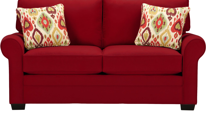 $568.00 - Bellingham Cardinal (red) Loveseat - Classic