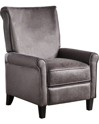 Charlene Traditional Slate Microfiber Recliner Chair