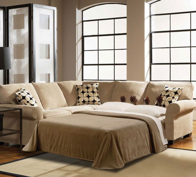 Ethan Full Sleeper Sectional | Broyhill | Naples | Sectional sleeper