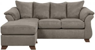 Upton Microfiber Sofa with Floating Ottoman from Gardner-White Furniture