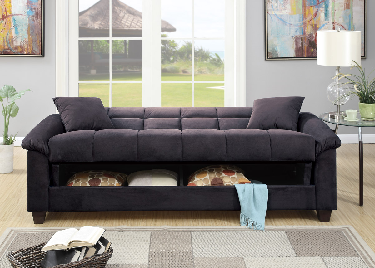 Microfiber Sofa Bed Ebony Microfiber Sofa Bed Futon Caravana Furniture