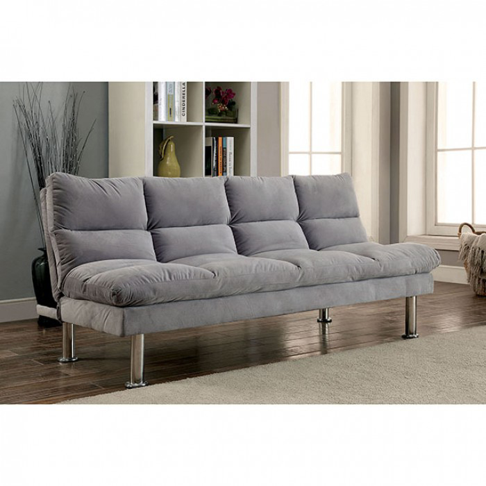 Saratoga Grey Microfiber Sofa Bed