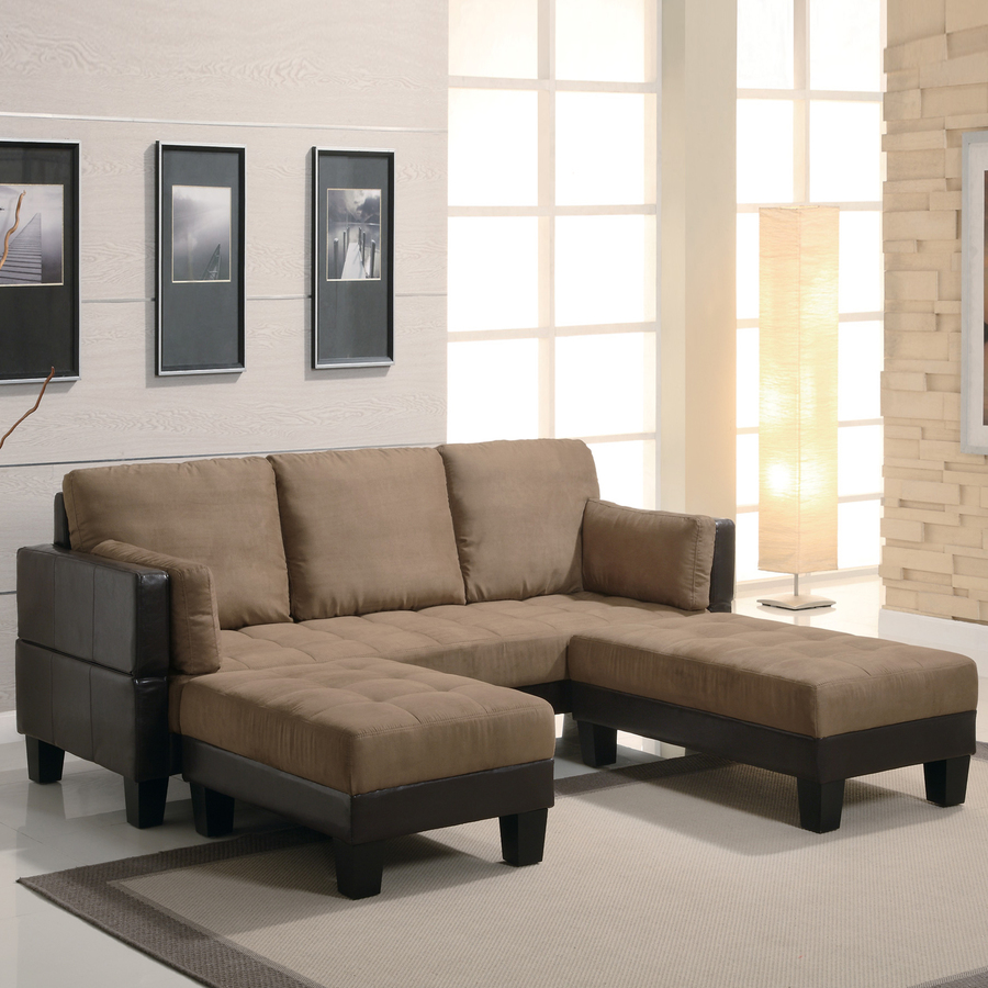 Coaster Fine Furniture Tan/Dark Brown Microfiber Sofa Bed