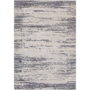 Bridgeton Distressed Modern Gray/Cream Abstract Area Rug