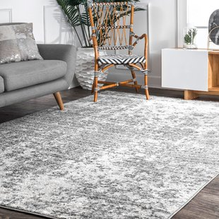 Bloom Cool Gray/Dark Gray/Ivory Area Rug