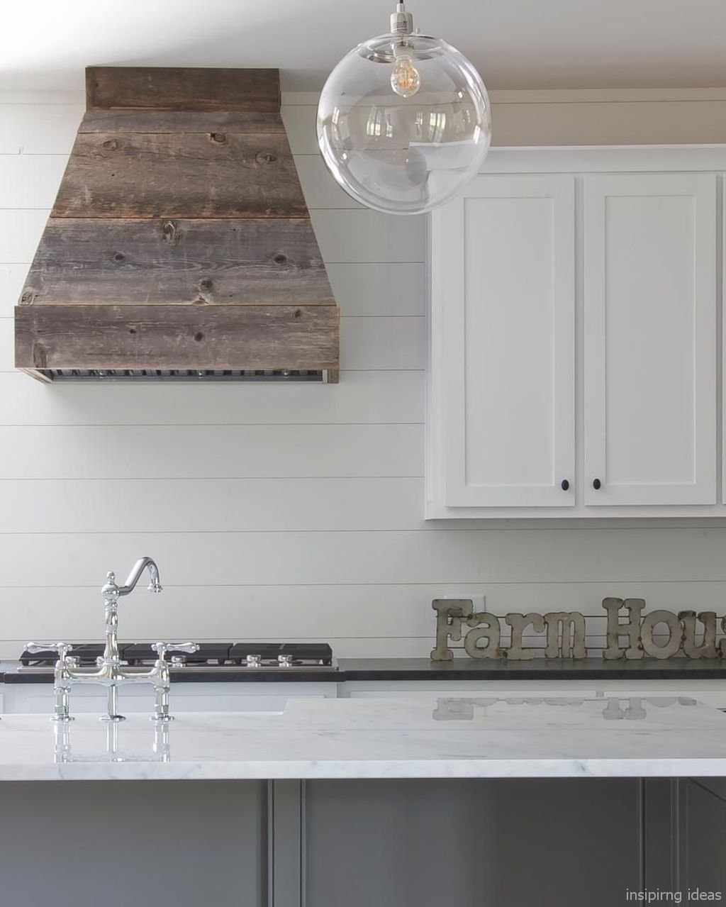 Beautiful Modern Farmhouse Kitchen Backsplash Ideas 66