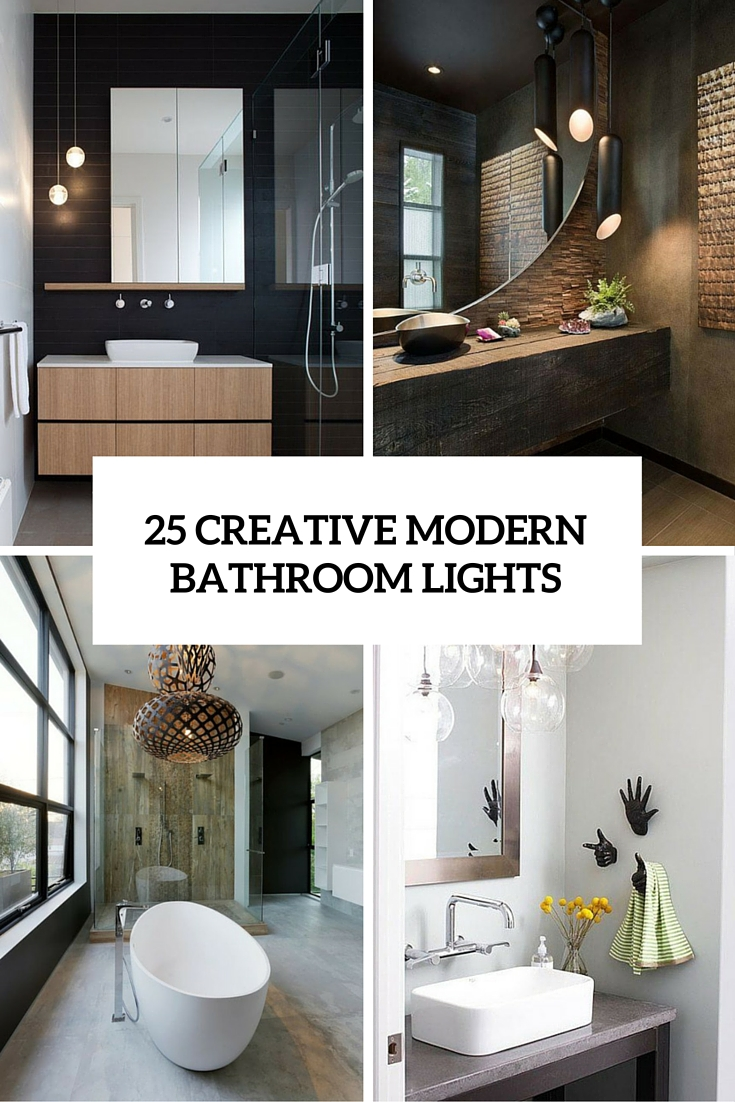 25 creative modern bathroom lights ideas cover