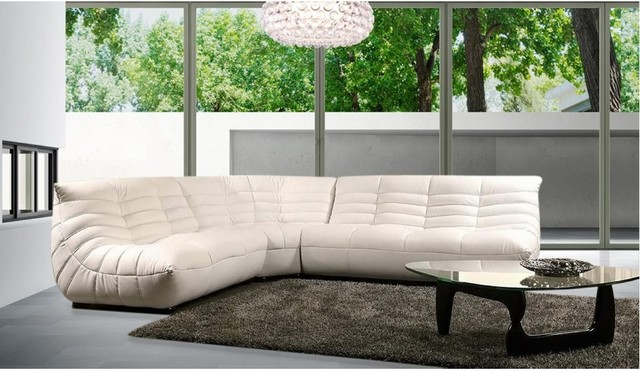 Modern Comfortable Leather Sectional Sofa - Modern - Living Room