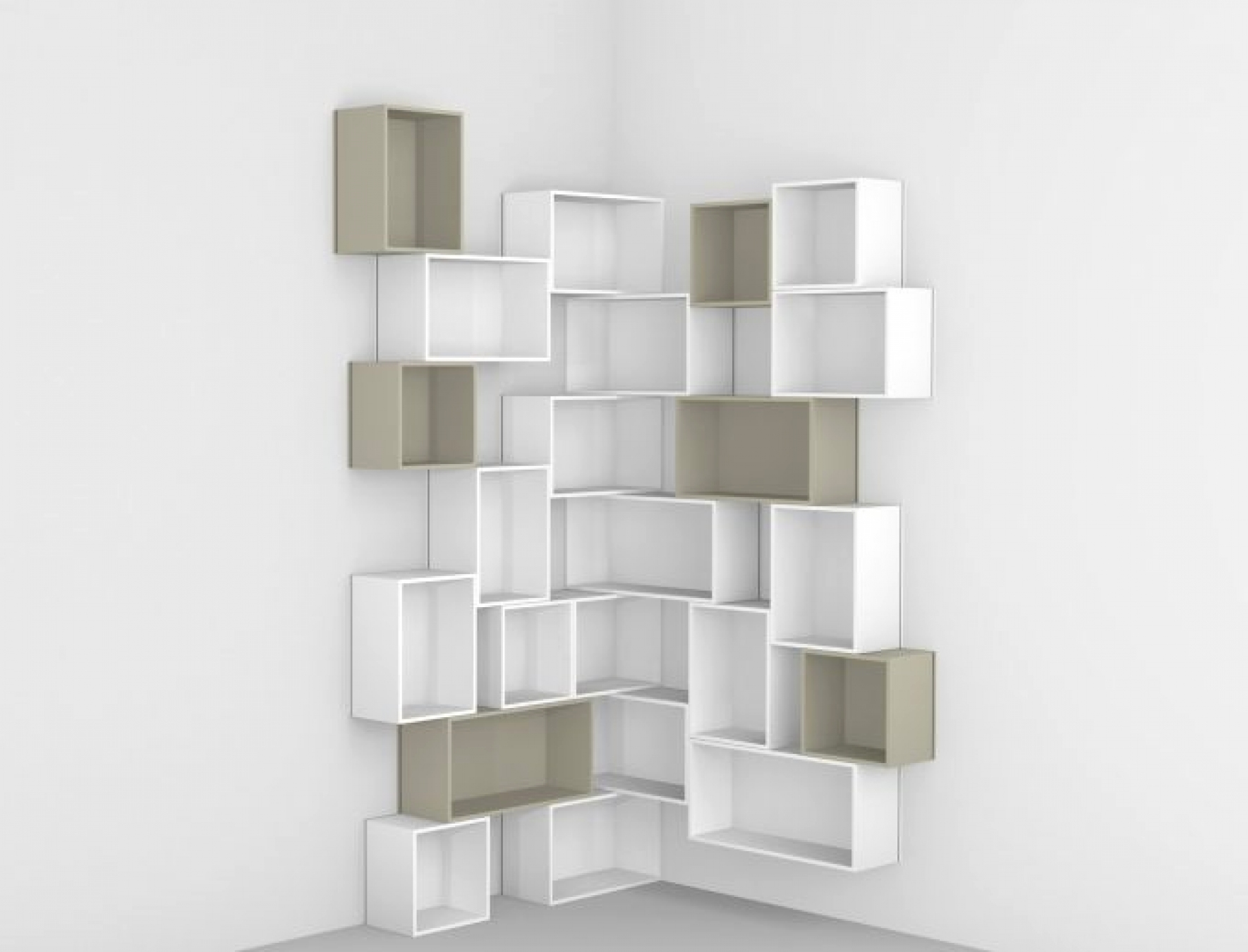 Modern Corner Bookshelf 5