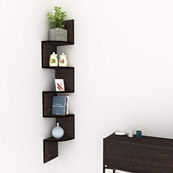 Traveller Location: Corner Floating Shelves, Modern 5 Tier Corner Shelves, Mount  Home Decor Display Shelf: Home & Kitchen