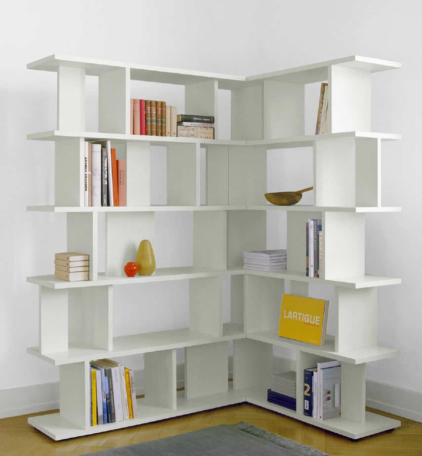 Corner Book Shelves Furniture Ideas